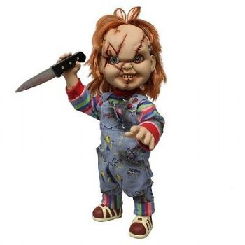 "CHILDS PLAY SCARRED TALKING CHUCKY 15"" ACTION FIGURE STAR IMAGES EXCLUSIVE"